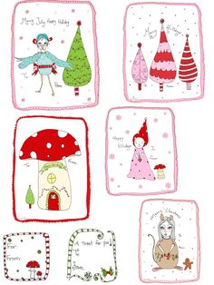 41 Sets of Free Printable Christmas Gift Tags: Christmas Gift Tags at A Fanciful Twist