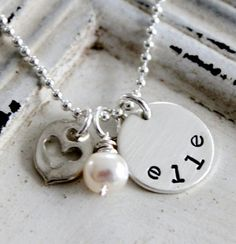 Personalized Mothers Necklace, Hand Stamped Jewelry, Sterling Silver Mothers Necklace .... Hand Stamped Name Necklace on Etsy, $36.00