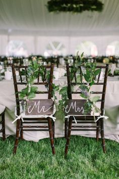 Sweetheart chairs: http://www.stylemepretty.com/wisconsin-weddings/madison-wi/2015/03/17/traditionally-elegant-grove-wedding/ | Photography: M Three Studio - http://www.mthreestudio.com/