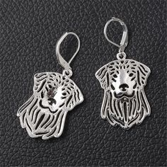 Fashion Metallic Hollow Golden Retriever Earrings Jewelry for Women
