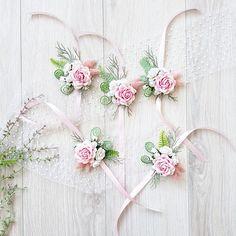 Bridesmaids rose corsage Flower wrist corsage Bridal rose