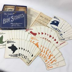 Vintage 1912 Parker Brothers The Game Of Boys Scouts Complete Card Game In Box