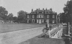 Didlington Hall in Norfolk - west front. Demolished 1950/1952 due to neglect neglect/surplus to requirements.