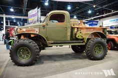 Heavy duty Dodge Power Wagon with copper bed, now thats just plan cool!