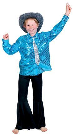 0efc015d4370 Chemise disco bleue garçon   Cette chemise disco pour garçon est de couleur  bleu . En