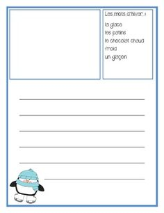 French Winter Writing Vocabulary French Teaching Resources, Teaching French, Literacy Centres, Core French, French School, French Teacher, French Immersion, French Words, Writing Practice