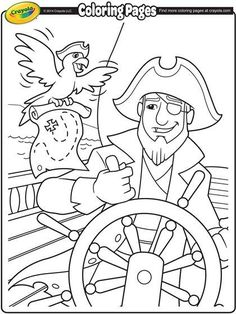Pirates Coloring Page Camping Coloring Pages, Pirate Coloring Pages, Crayola Coloring Pages, Summer Coloring Pages, Cat Coloring Page, Animal Coloring Pages, Free Coloring Pages, Coloring Books, Colouring Sheets