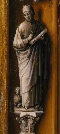 Juan de Flandes, Detail, Christ Appearing to His Mother, c. 1496