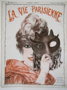 La Vie Parisienne News Magazine Janvier or January 1920.  I just love vintage posters :)