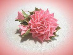 DIY ribbon flower, kanzashi flower tutorial / Цветы канзаши из ленты 5 см, Цветы из лент, МК - YouTube