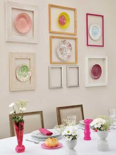 framed plate wall
