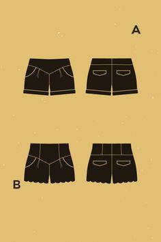 Chataigne shorts - Sewing Pattern