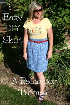 DIY Paper bag skirt refashion