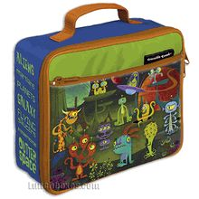Our Space Aliens lunch box was discovered by the #NASA #MarsRover and then given to us by Men in Black.
