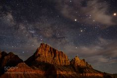 Zion Night  The Watchman under the stars.  Camera: NIKON D600 Lens: 24.0-70.0 mm f/2.8 Focal Length: 24mm Shutter Speed: 20sec Aperture: f/2.8 ISO/Film: 3200  Image credit: http://ift.tt/2ayI5hj Visit http://ift.tt/1qPHad3 and read how to see the #MilkyWay  #Galaxy #Stars #Nightscape #Astrophotography