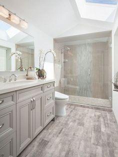 Grey Bathrooms Designs, Light Grey Bathrooms, Contemporary Bathroom Designs, Bathroom Interior Design, Beautiful Bathrooms, Gray And White Bathroom Ideas, Contemporary Design, Interior Decorating, Diy Interior