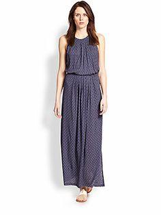 Joie Sumey Tile-Print Maxi Dress