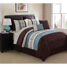 @Overstock.com - Be amazed with the luxury of the Florence Eight-piece Comforter Set. The super soft set's components are made using a 100-percent polyester face.  http://www.overstock.com/Bedding-Bath/Florence-8-piece-Comforter-Set/7859853/product.html?CID=214117 $89.99