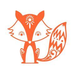 Cute Fox Cuttable Design Cut File. Vector, Clipart, Digital Scrapbooking…