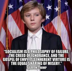 He was quoting Winston Churchill, but still it is sooooo true. Those screaming for socialistic reform just can't see it for some reason.
