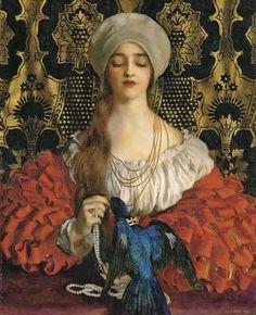 """The Blue Bird"" by Frank Cadogan Cowper (1877–1958) | Posted by sofi01 (Sofi) | January 15, 2012"