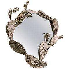 Unique Nopales Wall Mirror in Bronze by David Wiseman, USA, 2015