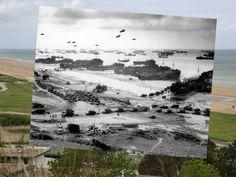 Normandía--Tropas americanas en playa Omaha durante las primeras fases de la invasión de Francia tras el desembarco.