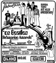 yellow submarine ad / cine olido and iguatemi, são paulo, 1969