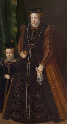 Archduchess Maria of Austria, Duchess of Jülich-Cleves-Berg, with her daughter Marie Eleanor, 1531-1581