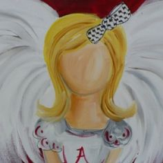 Great painting from paint and pals. University of Alabama angel.