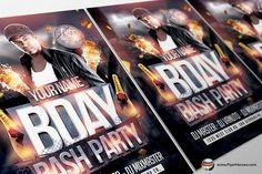 Bday Bash Flyer Template 2 by FlyerHeroes on @creativemarket