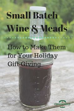 How to Make Small Batch Wines and Meads - recipies - Wein Homemade Wine Recipes, Homemade Alcohol, Homemade Liquor, Wine And Liquor, Wine And Beer, Home Fermenting, Mead Wine, Honey Mead, How To Make Mead