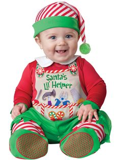 Santas Lil' Helper Baby Costume Christmas Costumes - Mr. Costumes