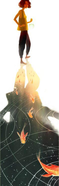 swim to freedom | jisookim  #illustration #composition #color