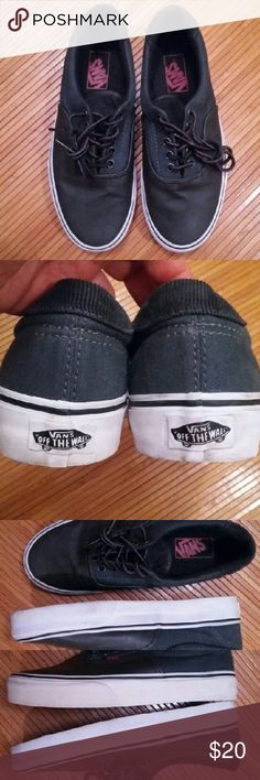 Vans sneakers sz Men's 6.5 Wo sz.8 Vans sneakers sz. Men's 6.5 Wo sz.8 Upper in excellent condition...rim needs cleaning...one outer rim has a slight yellow  tone...but when worn not noticeable...in picture #3 Not much sole wear Vans Shoes Sneakers