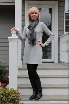 Fashion Over Boots and Dresses - Southern Hospitality - - I have several sweater dresses ideas to wear it and now I see I can wear it with my booties Source by Fashion For Petite Women, Womens Fashion Casual Summer, Fashion For Women Over 40, Casual Winter Outfits, 50 Fashion, Look Fashion, Women's Fashion Dresses, Autumn Fashion, Fashion Ideas