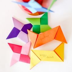See how these little origami stars can add to your holiday decor.