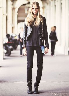 Cara in all black
