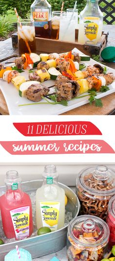 Make the most of the end of the season with help from this collection of 11 Summer Recipes! From Frozen Strawberry Lemonade to Sweet Tea Oven Fried Chicken, you're sure to find the perfect dish to hel (Fried Chicken Kabobs) Good Food, Yummy Food, Fun Food, Fries In The Oven, Strawberry Lemonade, Summer Recipes, Sweet Tea, Fried Chicken, Food To Make