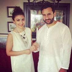 Soha Ali Khan ties a 'rakhi' on brother Saif Ali Khan Bollywood Stars, Bollywood News, Famous Celebrities, Celebs, Soha Ali Khan, Happy Rakshabandhan, Kareena Kapoor Khan, Raksha Bandhan, Rakhi