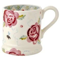 Emma Bridgewater Rose and Bee 1/2 Pint Mug... would be lovely for my sister's birthday with hot cider packets or great tea stuffed inside..