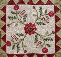 Applique Medallion Quilt by QOB, via Flickr  For Claudia's applique