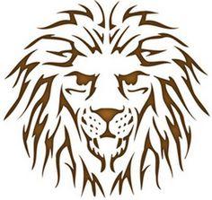 Lion Head Reusable Stencil   Dons Hobby Shop