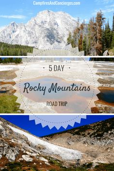 5 Day Itinerary for USA Rocky Mountains Road Trip   Yellowstone National Park   Grand Teton National Park   Colorado Road Trip Itinerary #roadtrip #rockymountains
