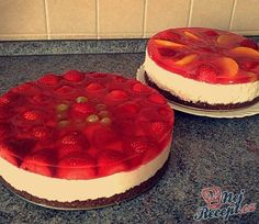 Czech Desserts, Czech Recipes, Mini Cheesecakes, Desert Recipes, Healthy Baking, Party Cakes, No Bake Cake, Sweet Recipes, Delicious Desserts