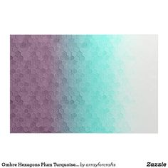 Ombre Hexagons Plum Turquoise ID114 Fabric