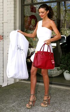 White with red accents...bag,lips, and red bottomed CL shoes! Loveee