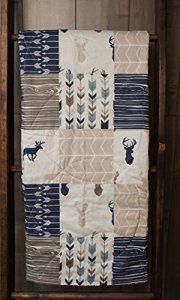 Amazon.com : Baby Boy Hunting Quilt, Baby Quilt, Woodland, Deer, Moose, Arrow, Chevron, Baby Bedding, Crib Bedding, Babylooms : Everything Else