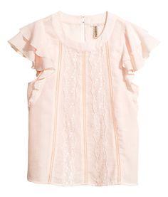 H&M blouse with lace Fabric Shoes, Long Wedding Dresses, Fat To Fit, Lace Bodysuit, Lolita Dress, Moda Online, Style Me, Pink Ladies, Cold Shoulder Dress