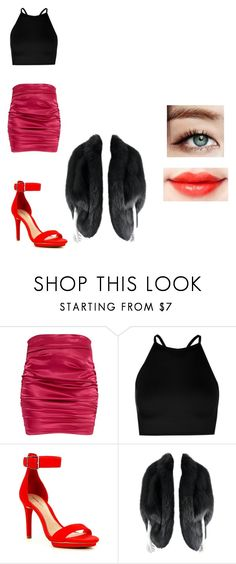 """""""Sin título #72"""" by susan-michelle-tavares on Polyvore featuring moda, Boohoo, Gianni Bini y Yves Saint Laurent"""